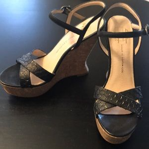 Shoes - House of Harlow black cork wedge in 6.5